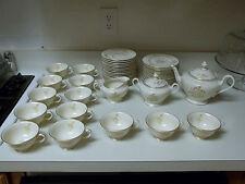 Castleton China Autumn Lea USA ~ 50 Piece Set ~ MINT ~ Teapot