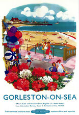 Art Ad Gorleston on Sea British Railways  Train Rail Travel  Poster Print