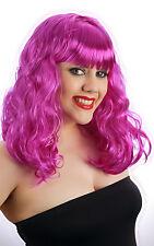 Womens Ladies Purple California Girl Style Katy WIG Perry Fancy Dress Costume