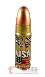 """USA Flag Military Large Bullet Coin Piggy Bank Realistic Look Wing Cross 11.25"""""""