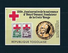 Togo bloc   croix rouge Henri Dunant     de 1978   num:  121  **