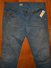 G-STAR RAW AZURE BLUE DENIM LT AGED WOMENS JEANS Size 26-32 NEW made in Italy
