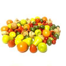 Wooden Fruit- Large Lot of wooden fruit- Wooden Oranges, Strawberry's, Olives Et