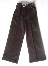 Vintage Flared JerseyTrousers - Age 5 - Approx - Brown - Half Belt - New