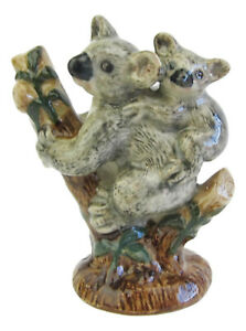Miniature Porcelain Koala with baby in Tree Approx 7.5cm High
