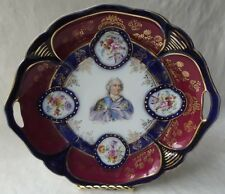 """ANTIQUE IPF GERMANY OPEN HANDLES LOUIS XV PLATE 10-1/2"""""""