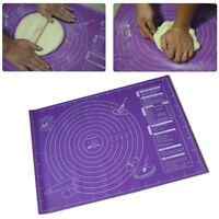 Non-Stick Silicone Baking Mat Dough Rolling Pad w/ Measurement Fondant Pastry