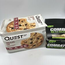 Quest Nutrition Chocolate Chip Protein Cookie 11 Count + Free MP Protein bars