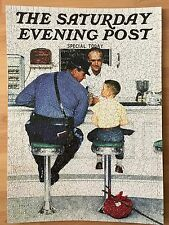 """Norman Rockwell Picture Finished Puzzle Completed The Runaway 27x20"""" Boy, Police"""