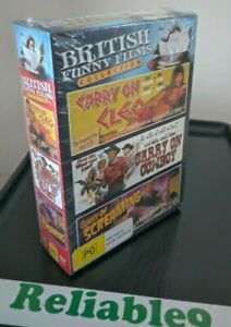 British Funny F- Carry on Cleo+Carry on Cowboy+Carry on creaming 3DVD Sealed Aus