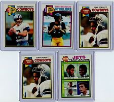 1979 Topps 10 Card Group Lot With HOFs and Stars Inc. Staubach, Bradshaw
