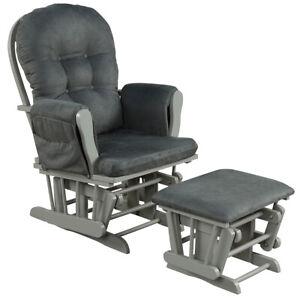 Nursing Glider Rocking Chair Reclining Maternity Chair W/Footstool Baby Nursery