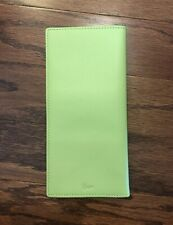 Royce Leather Passport Ticket Holder - Leather - Bright Green Wallet NEW