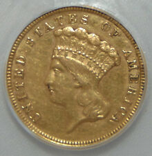 1854 Indian Princess Gold Three Dollar $3 Coin, ICG AU50 ~ Beautiful Coin!