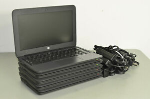 """Lot of 5 - HP Chromebook 11 G5 EE N3060 1.6ghz 4GB 16GB 11.6"""" Chome OS Laptops"""