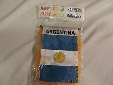 Mini banner/Mini bandera Argentina  Car Window Mirrow