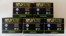 Suzuki LS650 Savage / S40 Boulevard Hiflofiltro Oil Filters (HF137) (5 Pack)