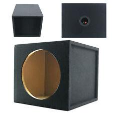 "Audiotek Car Audio Single 10"" Sealed Subwoofer Sub Box Enclosure 1"" Mdf Wood"