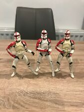 Star Wars OTC Clone Trooper Captain Officer  Figure Bundle X 3 Builder Hasbro