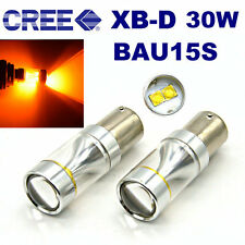 2x 30W Bau15s 150° 7507 PY21W High Power CREE LED Turn Signal Light Bulb Amber