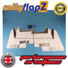 rallyflapZ SUBARU IMPREZA Bugeye (01-07) Mud Flaps White WRX Silver 4mm PVC