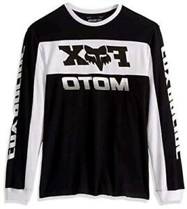 Fox Racing Men's Long Sleeve Airline Knit, Black/White, Size Large Ezfj