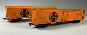 Walthers HO Santa Fe Freight 50' REA Express Reefer (2 Pack) 932-26248