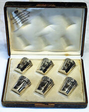 Trinkbecher 800 Silber Jugendstil 6 Stück ANTHONY & WOLLFERSFRÉRES Flandre
