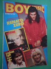 F BOY MUSIC N 40 Raro 1982 Renato Zero Enzo Avallone James Dean Carrà Rettore