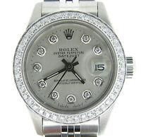 Rolex Datejust Ladies Stainless Steel Watch w/ Silver Diamond Dial & .70ct Bezel