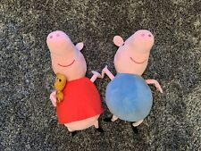 TY PEPPA PIG & TY GEORGE LARGE CUDDLY TOYS
