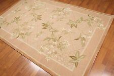 "5'2"" x 8'3"" Handmade Transitional Oriental 100% wool Area rug Brown"
