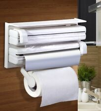 Triple Paper Dispenser for cling wrap aluminum foil kitchen roll paper towel