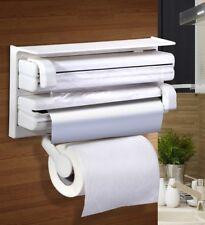 Triple Paper Dispenser for cling wrap aluminum foil kitchen roll paper towel