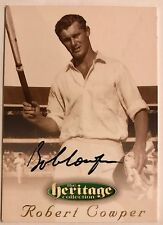 1995 FUTERA HERITAGE CRICKET COLLECTION CARD N0 55/60 SIGNED ROBERT COWPER