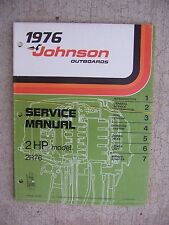 1976 Johnson Outboard Motor 2 HP Model 2R76 Service Manual Marine Boat Engine R