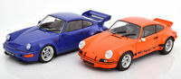 PORSCHE 911 TWIN PACK FANTASTIC EXAMPLE DIECAST MODEL SUPERB DETAIL 1:18 SCALE