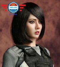 【FREE SHIPPING】1/6 Asian Female SHORT Hair Head Sculpt for SUNTAN PHICEN