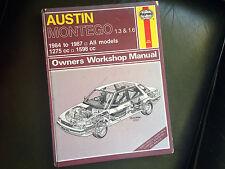AUSTIN MONTEGO 1300 & 1600cc 1984-87' Haynes Workshop Manual