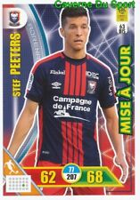 063bis STEF PEETERS BELGIQUE SM.CAEN UPDATE CARTE CARD ADRENALYN 2018 PANINI