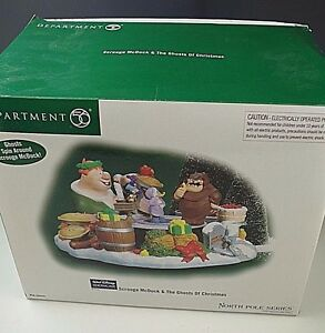 DEPARTMENT 56 SCROOGE McDUCK & THE GHOSTS OF CHRISTMAS NORTH POLE SERIES NIB