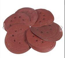 100pcs 5 inch 60 80 120 240  Grit 8 Holes Sand Discs Sanding Paper Discs