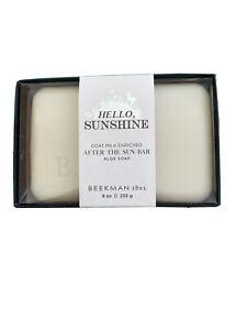 Beekman 1802 Hello Sunshine  After the Sun Aloe Goat Milk Soap Bar Large 9 oz