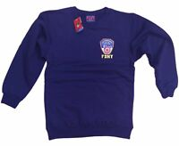 FDNY Sweatshirt Mens Crewneck Shirt Navy Blue Fireman Gift