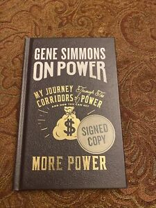 Gene Simmons Signed ON POWER AUTOGRAPHED Book