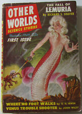 Other Worls #1 Nov 1949 Old Sci-Fi Science Fiction Pulp Magazine Very Good