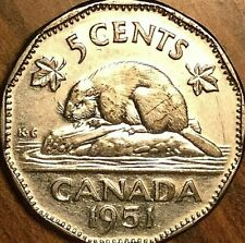 1951 CANADA KING GEORGE VI 5 CENTS COIN