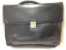$3500 MONTBLANC BLACK LEATHER BRIEFCASE ATTACHE WESTSIDE DOUBLE GUSSET BAG