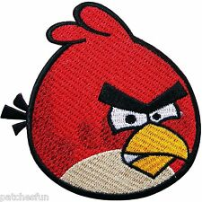 Angry Birds Red Cute Cartoon Comic Game Doll Kid Children Sew Iron on Patch 0514