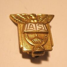 A. S. Eagle, Book & Oil Lamp Vintage Lapel Pin gift